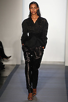 Jasmine Tookes walks down runway in F2012 Peter Som's collection, New York, Feb 10, 2012