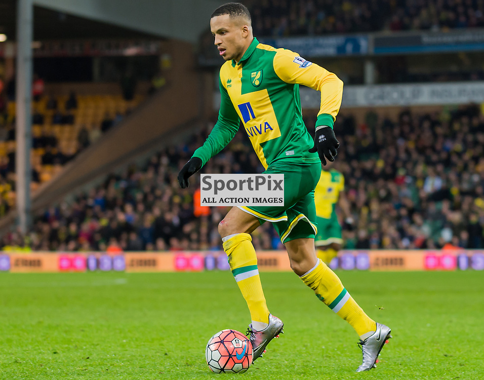 Norwich City defender Martin Olsson (23) prepares to attack