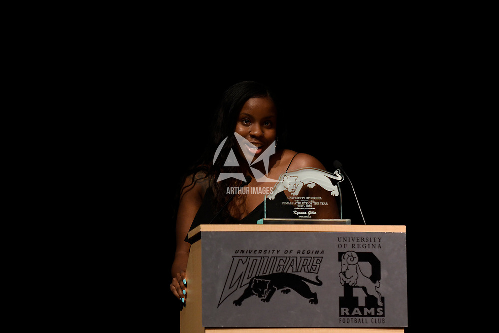 Regina Cougars Awards Night 2018 on April  12 at the Riddell Theatre Regina,Saskatchewan. Credit: Arthur Ward/Arthur Images