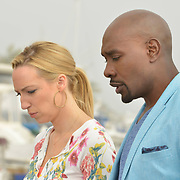 "ROSEWOOD: Pictured L-R: Anna Konkle and Morris Chestnut in the ""Boatopsy & Booty"" episode of ROSEWOOD airing Thursday, Oct. 13 (8:00-8:59 PM ET/PT) on FOX. ©2016 Fox Broadcasting Co. CR: Lisa Rose/FOX"