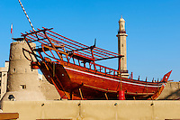 Emirats Arabes Unis, Dubai, quartier de Bur Dubai, le musse de Dubai dans le fort Al Fahidi // United Arab Emirates, Dubai, Bur Dubai neighbourhood, Dubai museum in the Al Fahidi fort