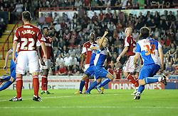 Bristol Rovers' Mark McChrystal celebrates his goal.  - Photo mandatory by-line: Dougie Allward/JMP - Tel: Mobile: 07966 386802 04/09/2013 - SPORT - FOOTBALL -  Ashton Gate - Bristol - Bristol City V Bristol Rovers - Johnstone Paint Trophy - First Round - Bristol Derby