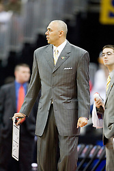 Virginia Cavaliers Head Coach Dave Leitao before the start of the Tennessee game.  The #4 seed Virginia Cavaliers were defeated by the #5 seed Tennessee Volunteers 77-74 in the second round of the Men's NCAA Tournament in Columbus, OH on March 18, 2007.