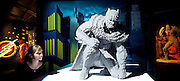 THE ART OF THE BRICK: DC SUPER HEROES <br /> designed by Nathan Sawaya <br /> South Bank, London, Great Britain <br /> 28th February 2017 <br /> <br /> London debut opens on 1st March 2017<br /> <br /> <br /> Batman : Dark Grey <br /> bricks: 22,024 <br /> 91x107x109 cm <br /> <br /> <br /> <br /> Together with Warner Bros. and DC Entertainment, Nathan Sawaya has created the world&rsquo;s largest collection of artwork inspired by DC's Justice League, including Batman, Superman, Wonder Woman, alongside DC Super-Villains the Joker, Harley Quinn and more.<br />  <br /> <br />  <br /> THE ART OF THE BRICK: DC SUPER HEROES exhibition includes more than 120 original pieces, created exclusively from LEGO bricks, including a life-size Batmobile (5.5 meters) and built from half a million standard pieces. Sawaya has captured on a real scale some of the most iconic Super Heroes and Super-Villains from DC, exploring more than 80 years of history.<br /> <br /> <br /> <br /> Photograph by Elliott Franks <br /> Image licensed to Elliott Franks Photography Services