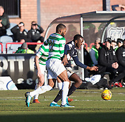 26th December 2017, Dens Park, Dundee, Scotland; Scottish Premier League football, Dundee versus Celtic; Dundee's Glen Kamara and Celtic's Olivier Ntcham