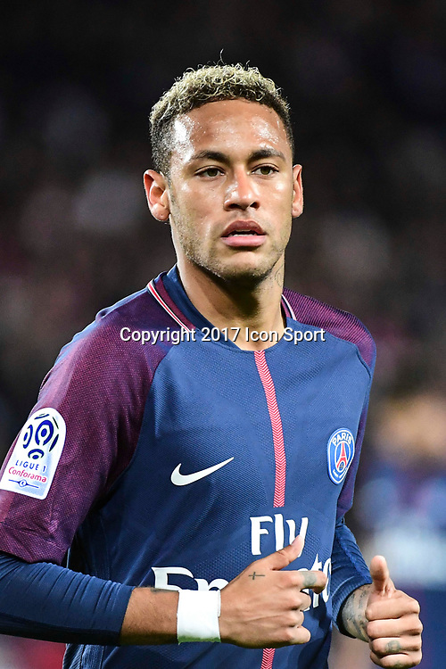 Neymar JR of PSG during the Ligue 1 match between Paris Saint Germain and Olympique Lyonnais  at Parc des Princes on September 17, 2017 in Paris, France. (Photo by Dave Winter/Icon Sport)