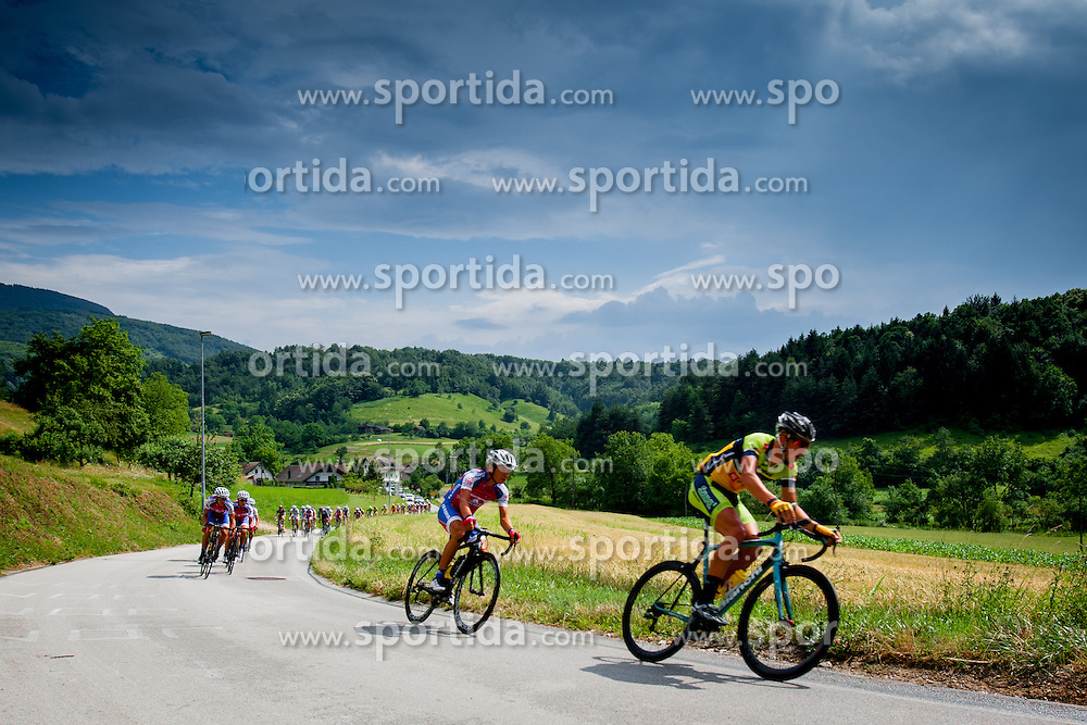 Cyclist during Slovenian National Championship in Road Cycling, on June 23, 2013, in Gabrje, Slovenia. (Photo by Urban Urbanc / Sportida.com)
