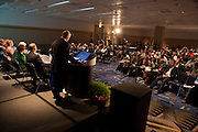 Chicago, IL - ASCO 2012 Annual Meeting: - Members of the press listen as Joseph M. Unger, PhC, speaks during the Press Conference: Highlighted Research of the Day at the American Society for Clinical Oncology (ASCO) Annual Meeting here today, Saturday June 2, 2012.  Over 25,000 physicians, researchers and healthcare professionals from over 100 countries are attending the meeting which is being held at the McCormick Convention center and features the latest cancer research in the areas of basic and clinical science. Photo by © ASCO/Scott Morgan 2012 Technical Questions: todd@toddbuchanan.com; ASCO Contact: photos@asco.org