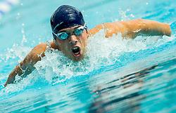 Timotej Zupancic of PK Ilirija Ljubljana competes in 4x100m Medley during Slovenian Swimming National Championship 2014, on August 3, 2014 in Ravne na Koroskem, Slovenia. Photo by Vid Ponikvar / Sportida.com