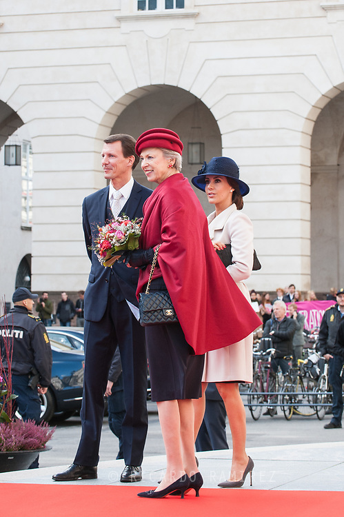 03.10.2017. Copenhagen, Denmark. <br /> Princess Marie, Prince Joachim, Princess Benedikte attended the opening session of the Danish Parliament (Folketinget) at Christiansborg Palace in Copenhagen, Denmark.<br /> Photo: &copy; Ricardo Ramirez