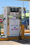 Israel, Liquefied petroleum gas pump at a petrol station