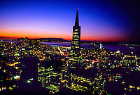Transamerica Pyramid and the skyline of  San Francisco, California USA
