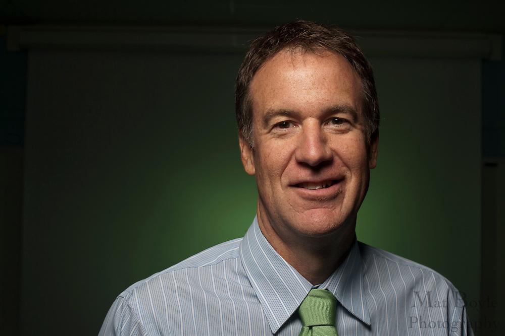 Mark Berkey-Gerard portrait in Bozorth Hall, Rowan University on Friday September 16, 2011