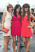 31/07/2013 Amanda Gallagher,Donegal, Orla Dillon Galway and Anne O'Shea Donegal at the third day of the Galway Races  .   Picture:Andrew Downes