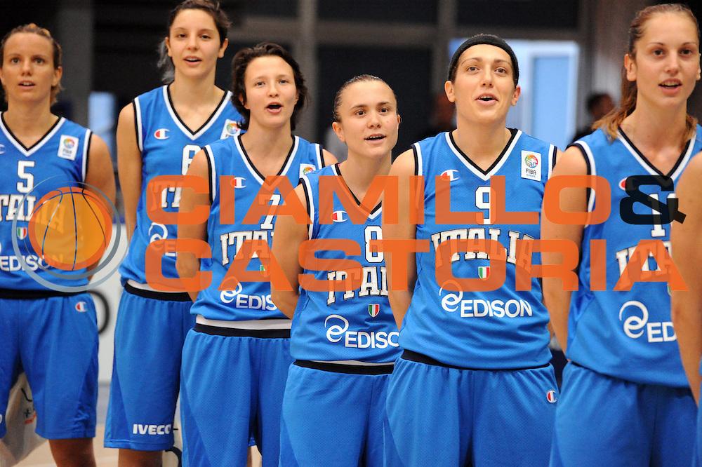 DESCRIZIONE : Latina Qualificazioni Europei Francia 2013 Italia Grecia<br /> GIOCATORE : Team Nazionale Italiana<br /> CATEGORIA : Inno<br /> SQUADRA : Nazionale Italia<br /> EVENTO : Latina Qualificazioni Europei Francia 2013<br /> GARA : Italia Grecia<br /> DATA : 11/07/2012<br /> SPORT : Pallacanestro <br /> AUTORE : Agenzia Ciamillo-Castoria/GiulioCiamillo<br /> Galleria : Fip 2012<br /> Fotonotizia : Latina Qualificazioni Europei Francia 2013 Italia Grecia<br /> Predefinita :