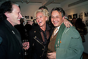 AMANDA ELIASCH;, Tomasz Starzewski, The Way We Wore.- Photographs of parties in the 70's by Nick Ashley. Sladmore Contemporary. Bruton Place. London. 13 January 2010. *** Local Caption *** -DO NOT ARCHIVE-© Copyright Photograph by Dafydd Jones. 248 Clapham Rd. London SW9 0PZ. Tel 0207 820 0771. www.dafjones.com.<br /> AMANDA ELIASCH;, Tomasz Starzewski, The Way We Wore.- Photographs of parties in the 70's by Nick Ashley. Sladmore Contemporary. Bruton Place. London. 13 January 2010.