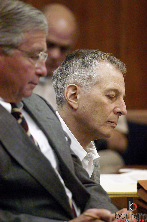 Robert Durst, right, sits with attorney Dick DeGuerin during a bond reduction hearing in the 212th District Court on Thursday, December 18, 2003. Durst's bond was not reduced and remains at $2 billion.