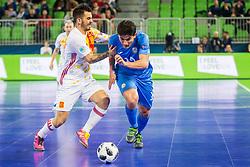 Douglas Junior of Kazakhstan during futsal match between Kazakhstan and Spain in Semifinals of UEFA Futsal EURO 2018, on February 8, 2018 in Arena Stozice, Ljubljana, Slovenia. Photo by Ziga Zupan / Sportida