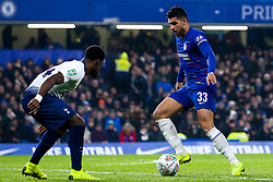 Emerson Palmieri of Chelsea takes on Serge Aurier of Tottenham Hotspur - Mandatory by-line: Robbie Stephenson/JMP - 24/01/2019 - FOOTBALL - Stamford Bridge - London, England - Chelsea v Tottenham Hotspur - Carabao Cup