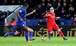 Alberto Moreno of Liverpool runs with the ball - Mandatory by-line: Robbie Stephenson/JMP - 27/02/2017 - FOOTBALL - King Power Stadium - Leicester, England - Leicester City v Liverpool - Premier League