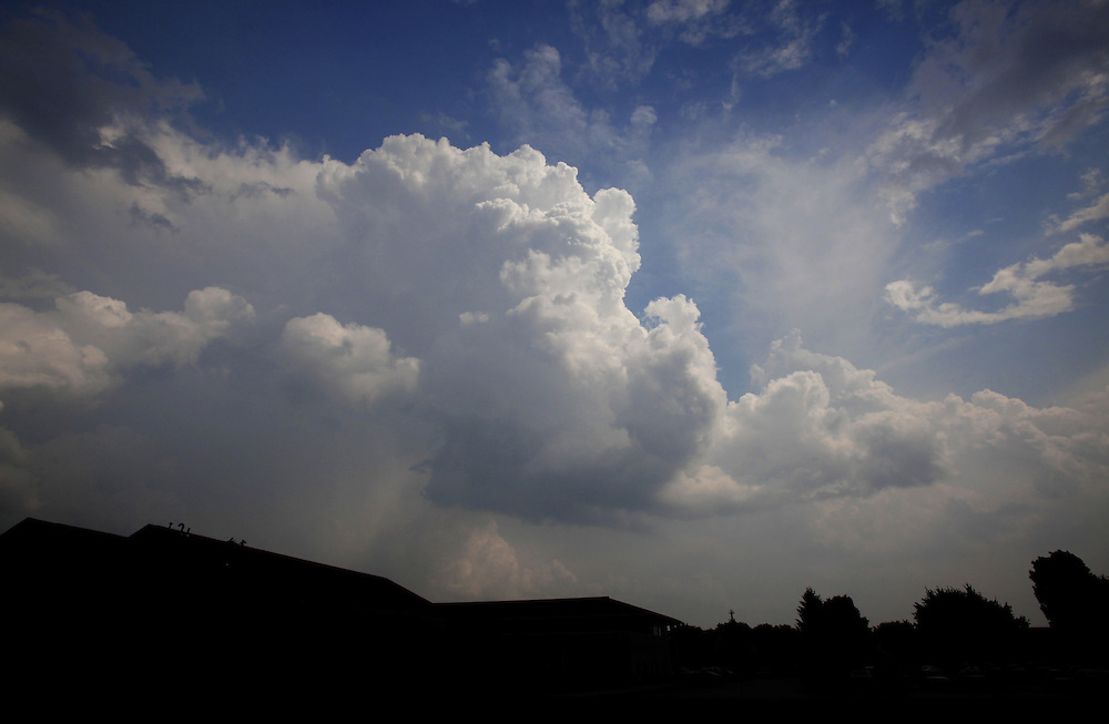Storms roll through East Central Indiana Friday afternoon. .(Chris Bergin/The Star Press)
