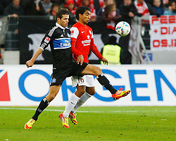 10.12.2011, Coface Arena, Stuttgart, GER, 1.FBL, 1. FSV Mainz 05 vs Hamburger SV, Dennis DIEKMEIER, HSV - Sami ALLAGUI, FSV Mainz // during the match from GER, 1.FBL, 1. FSV Mainz 05 vs Hamburger SV on 2011/12/10, Coface Arena, Mainz, Germany. EXPA Pictures © 2011, PhotoCredit: EXPA/ nph/ A.Huber..***** ATTENTION - OUT OF GER, CRO *****