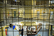 The central star of HMP Winchester. HMP YOI Winchester was built in 1846 and is typical of the Victorian prison, radial design. It is currently a Category B Local prison that serves the local courts, has an operational capacity of 690 and is able to take men from the age of 18 upwards.  HMP Winchester, Hampshire, United Kingdom. (All image use MUST be credited © prisonimage.org)