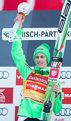 01.01.2016, Olympiaschanze, Garmisch Partenkirchen, GER, FIS Weltcup Ski Sprung, Vierschanzentournee, Siegerehrung, im Bild Peter Prevc (SLO, 1.Platz) // 1st placed Peter Prevc of Slovenia during Award ceremony of Four Hills Tournament of FIS Ski Jumping World Cup at the Olympiaschanze, Garmisch Partenkirchen, Germany on 2016/01/01. EXPA Pictures © 2016, PhotoCredit: EXPA/ Jakob Gruber
