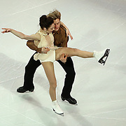 Meryl Davis and Charlie White are seen during the Smucker's Skating Spectacular at the TD Garden on January 12, 2014 in Boston, Massachusetts.