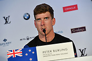 Peter Burling, Defenders Emirates Team New Zealand, press conference during the 35th America's Cup 2017, Day 4, on June 25, 2017 in Hamilton, Bermuda - Photo Christophe Favreau / ProSportsImages / DPPI