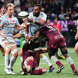 Leone Nakarawa of Racing 92 during the Top 14 match between Racing 92 and Bordeaux Begles at Paris La Defense Arena on March 24, 2019 in Nanterre, France. (Photo by Dave Winter/Icon Sport) - Leone NAKARAWA - Paris (France)