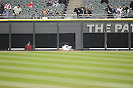 CHICAGO - APRIL 30:  Adam Eaton #1 of the Chicago White Sox dives but cannot catch the ball against the Detroit Tigers on April 30, 2014 at U.S. Cellular Field in Chicago, Illinois.  (Photo by Ron Vesely)