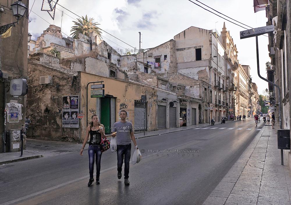 Palermo; &quot;Vittorio Emanuele&quot; road, <br /> Palermo, corso Vittorio Emanuele