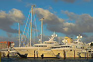 Florida, Fort Lauderdale, International Boat Show, yacht in row