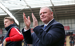 Peterborough United Manager Steve Evans claps the fans on his return to Rotherham United - Mandatory by-line: Joe Dent/JMP - 30/03/2018 - FOOTBALL - Aesseal New York Stadium - Rotherham, England - Rotherham United v Peterborough United - Sky Bet League One
