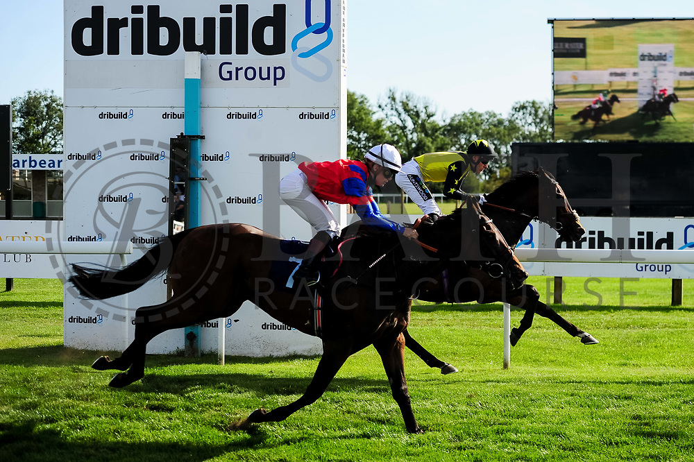 Oeil De Tigre ridden by Laura Coughlan and trained by Tony Carroll in the Sds Water Management Handicap race. Jumira Bridge ridden by William Carver and trained by Robert Cowell in the Sds Water Management Handicap race.  - Ryan Hiscott/JMP - 14/09/2019 - PR - Bath Racecourse - Bath, England - Race Meeting at Bath Racecourse