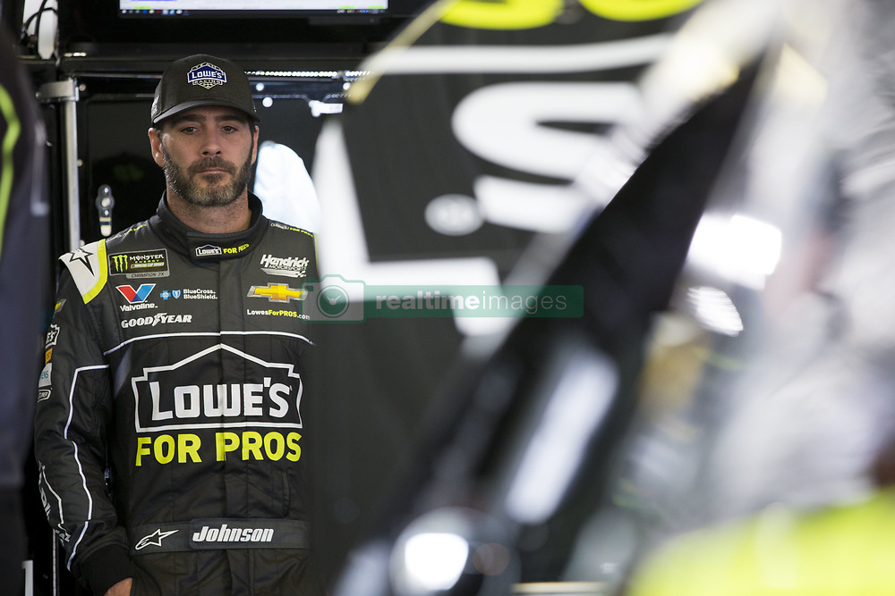 June 1, 2018 - Long Pond, Pennsylvania, United States of America - Jimmie Johnson (48) hangs out in the garage during practice for the Pocono 400 at Pocono Raceway in Long Pond, Pennsylvania. (Credit Image: © Justin R. Noe Asp Inc/ASP via ZUMA Wire)