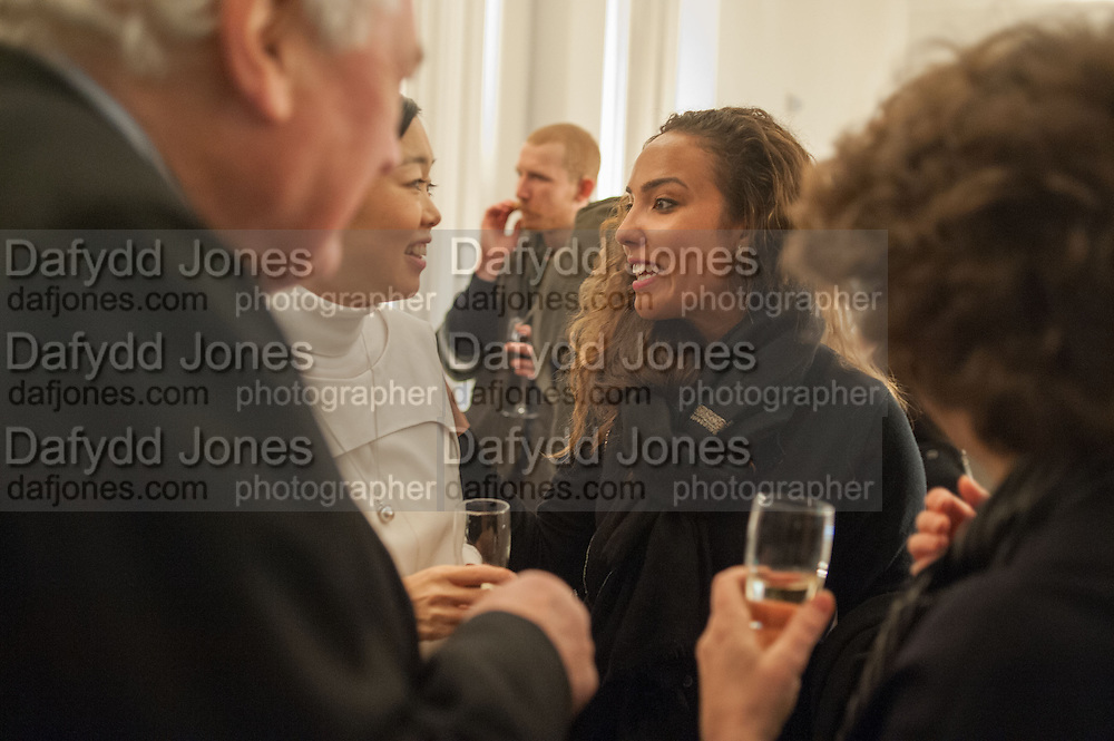 MARIKO MORI; PRINCESS ALIA AL-SENUSSI, Mariko Mori opening, Royal Academy Burlington Gardens Gallery. London. 11 December 2012.
