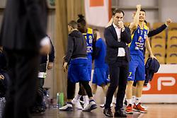 Rade Mjanovic, head coach of KK Sencur GGD during basketball match between KK Krka and KK Sencur GGD in 1st Semifinal of Slovenian Spar Cup 2017/18, on February 16, 2018 in Sports hall Tivoli, Ljubljana, Slovenia. Photo by Urban Urbanc / Sportida