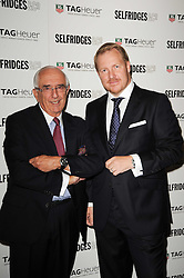 Left to right, JACK HEUER and ROB DIVER Brand Director at TAG Heuer at a party to celebrate 150 years of TAG Heuer held at the car park at Selfridge's, London on 15th September 2010.