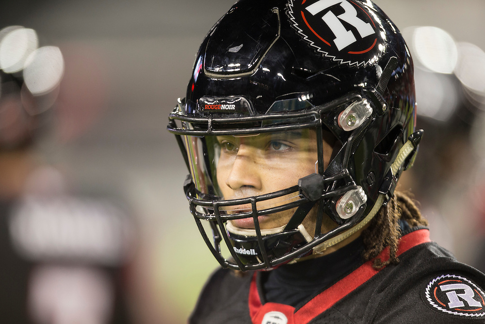 Kienan Lafrance of the Ottawa Redblacks warms up before the 104th Grey Cup against the Calgary Stampeders  in Toronto Ontario, Sunday,  November 27, 2016.  (CFL PHOTO - Geoff Robins)