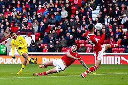 Kyle Bennett of Bristol Rovers shoots at goal - Mandatory by-line: Robbie Stephenson/JMP - 27/10/2018 - FOOTBALL - Oakwell Stadium - Barnsley, England - Barnsley v Bristol Rovers - Sky Bet League One