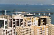 Macau harbour on the pearl river in front of Zouhai.   ///  port de Macao.  /// R00228/5    L1616  /  R00228  /  P0006553/// Nam Van lake -  project on new reclaimed land will change the face of Macau  ///  nouveau Projet immobilier ;  - Nam van lakeî qui va fermer la baie de Macao /// R00228/9    L3106  /  R00228  /  P0006552