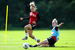 Ebony Salmon and Jas Matthews of Bristol City Women during training at Failand - Mandatory by-line: Robbie Stephenson/JMP - 26/09/2019 - FOOTBALL - Failand Training Ground - Bristol, England - Bristol City Women Training