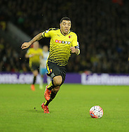Watford skipper Troy Deeney during the The FA Cup Third Round match between Watford and Newcastle United at Vicarage Road, Watford, England on 9 January 2016. Photo by Dave Peters.