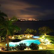 Luxury Caribbeal Resort pool at night