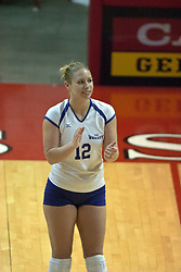 22 October 2006: Sarah Treadway. Illinois State University swept Evansville in 3 straight games of a best of 5 match. The Evansville Purple Aces met the Redbirds of Illinois State at Redbird Arena on the campus of Illinois State University in Normal Illinois.<br />