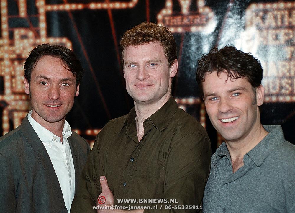 Perspresentatie musical 42nd Street, Hugo Haenen, Rein Kolpa en bart Oomen