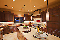 Interior of contemporary kitchen in luxury villa