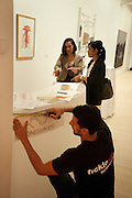 Indonesian Eye Contemporary Art Exhibition Reception, Saatchi Gallery. London. 9 September 2011. <br /> <br />  , -DO NOT ARCHIVE-© Copyright Photograph by Dafydd Jones. 248 Clapham Rd. London SW9 0PZ. Tel 0207 820 0771. www.dafjones.com.